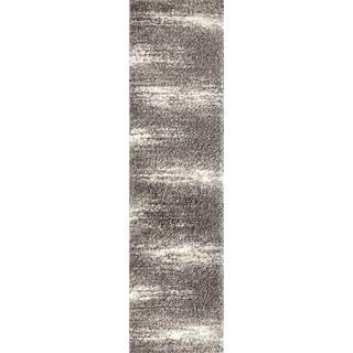 "Contemporary Ombre Shag Area Rug Runner - 2' x 7'2"" Runner"