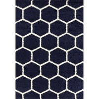 Geometric Honeycomb Shag Area Rug - 7'10 x 10'