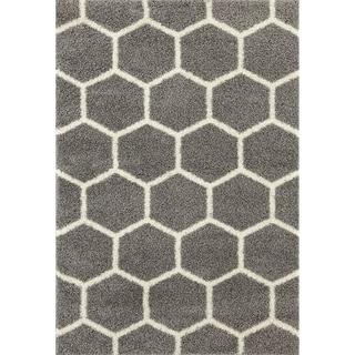 "Geometric Honeycomb Shag Area Rug - 3'3"" x 5'"