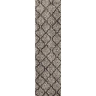"Moroccan Geometric Shag Area Rug Runner - 2' x 7'2"""