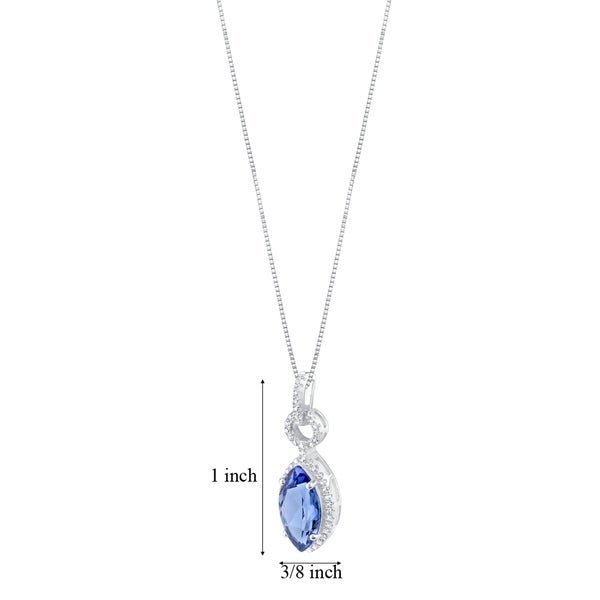 Solitaire Oval Earrings Simulated Tanzanite .925 Sterling Silver Pendant Set