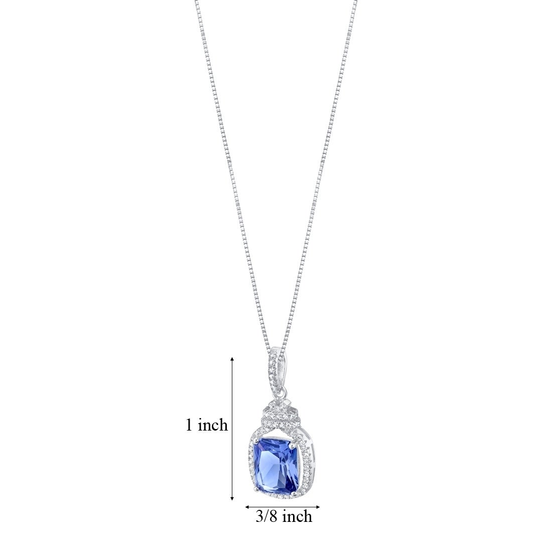 Glitzs Jewels Sterling Silver Simulated Diamond Accent Polished Love Heart Necklace