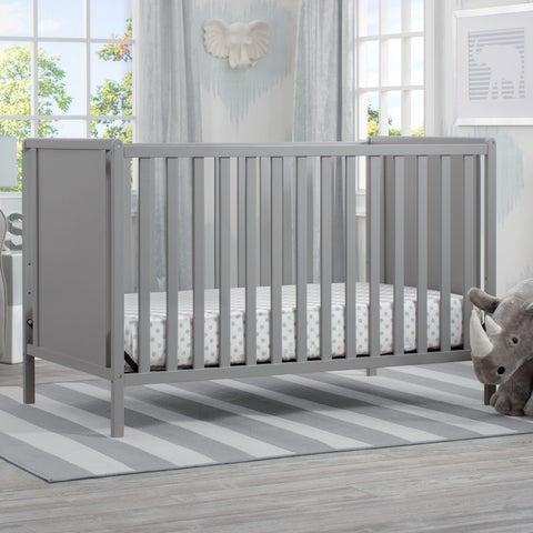 Delta Children Heartland Classic 4-in-1 Convertible Crib, Grey