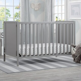 Delta Children Heartland Classic 4-in-1 Convertible Crib, Grey