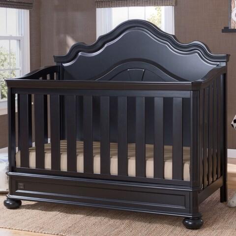 Simmons Kids Peyton Convertible Crib N More, Ebony