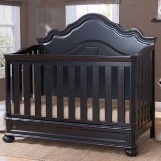 Simmons Kids Peyton Convertible Crib N More, Ebony