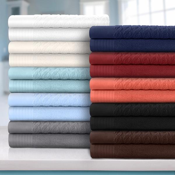 Shop Superior 100 Turkish Cotton Cordage Patterned 8 Piece Towel Set