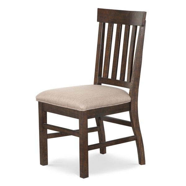 Magnussen Home Furnishings St. Claire Rustic Pine Traditional Dining Side  Chair With Off White