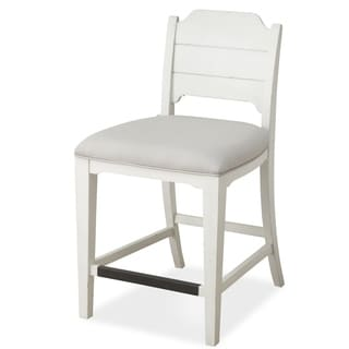 Coventry Lane Counter Stool with Upholstered seat in Antique White