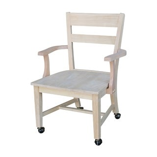 International Concepts Dining Chair with Casters