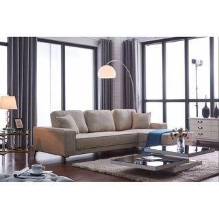 Ladeso Modern Fabric Sectional Sofa Beige