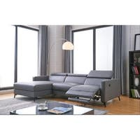 Gabriel Leather Contemporary Sectional Sofa Set Free