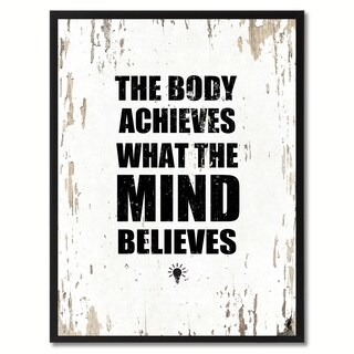The Body Achieves What The Mind Believes Saying Canvas Print Picture Frame Home Decor Wall Art Gifts