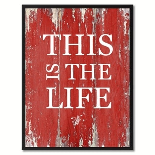 This Is The Life Saying Canvas Print Picture Frame Home Decor Wall Art Gifts