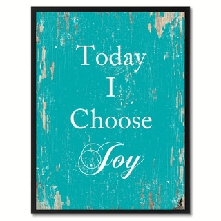 Today I Choose Joy Saying Canvas Print Picture Frame Home Decor Wall Art Gifts