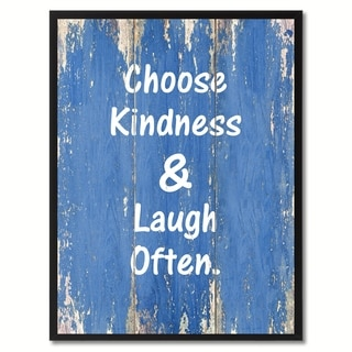 Choose Kindness & Laugh Often Saying Canvas Print Picture Frame Home Decor Wall Art Gifts