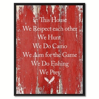 In This House We Respect Each Other Saying Canvas Print Picture Frame Home Decor Wall Art Gifts