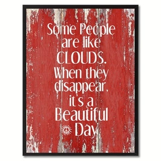 Some People Like Clouds When They Disappear Saying Canvas Print Picture Frame Home Decor Wall Art Gifts