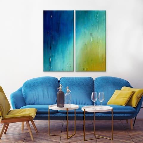 Ready2HangArt 'Sunrise' Canvas Wall Decor Set by Max+E - Blue