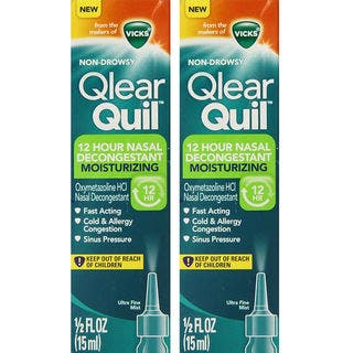 Vicks Qlearquil 12-Hour 0.5-ounce Nasal Decongestant Moisturizing Spray (Pack of 2)|https://ak1.ostkcdn.com/images/products/17931351/P24111707.jpg?impolicy=medium