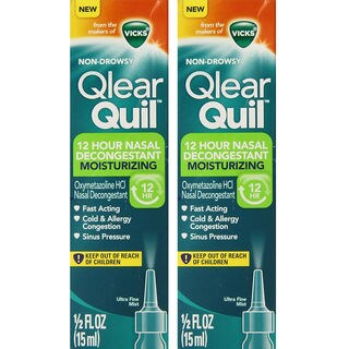 Vicks Qlearquil 12-Hour 0.5-ounce Nasal Decongestant Moisturizing Spray (Pack of 2)