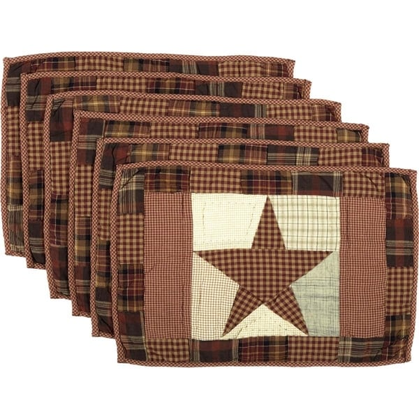 Abilene Star Quilted Placemat Set Of 6