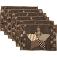 Farmhouse Star Quilted Placemat Set of 6