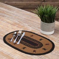 Heritage Farms Star Oval Jute Placemat Set of 6