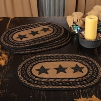 Farmhouse Jute Stencil Stars Placemat Set of 6