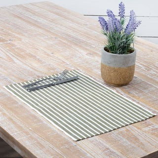 Harmony Ribbed Placemat Set of 6 (Option: Olive)