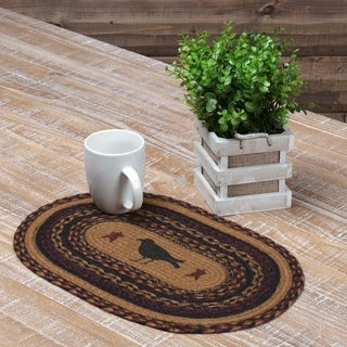 Heritage Farms Crow Oval Jute Placemat Set of 6