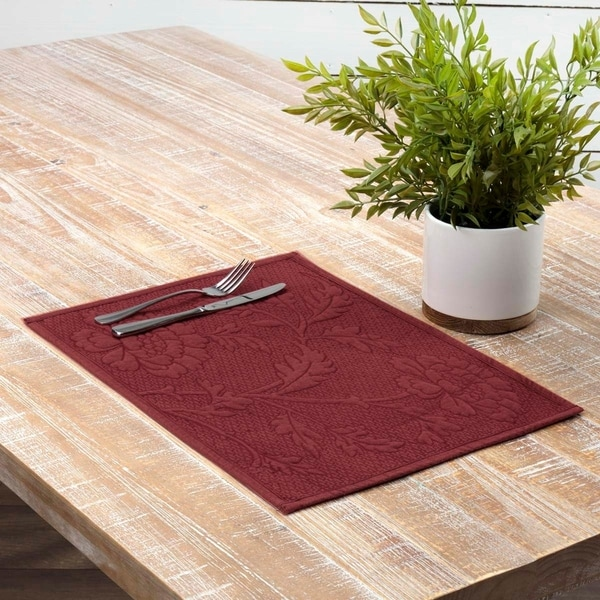 White Farmhouse Tabletop Kitchen VHC Blake Placemat Set of 6 Linen Striped