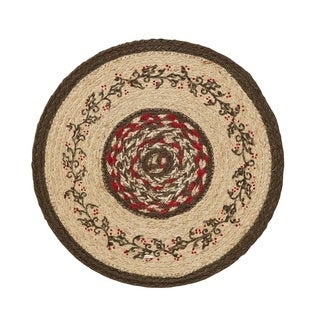 Holly Berry Jute Stenciled Tablemat Set of 6