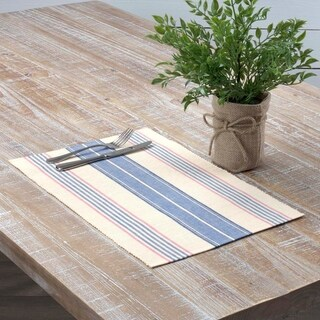 Cadence Ribbed Placemat Set of 6 12x18 - Placemat 12x18