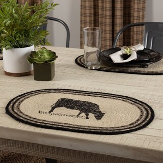 Sawyer Mill Cow Oval Jute Placemat Set of 6