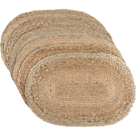 Natural Jute Placemat Set of 6 12x18