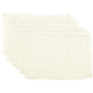 Tobacco Cloth Fringed Placemat Set of 6