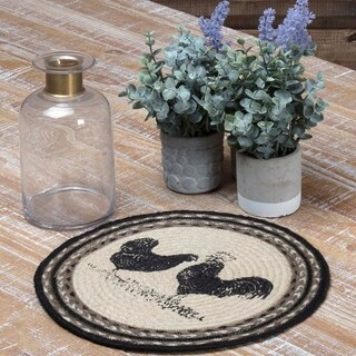 Sawyer Mill Poultry Jute Tablemat Set of 6