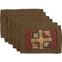 Tea Cabin Quilted Placemat Set of 6