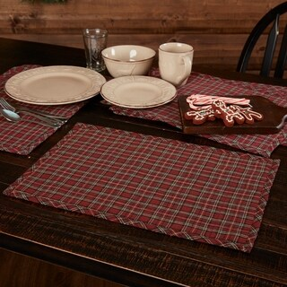 Tartan Holiday Placemat Set 6 12x18