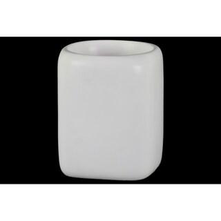 UTC37329 Ceramic Pot Matte Finish White