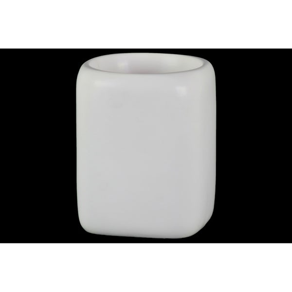 UTC37329 Ceramic Pot Matte Finish White