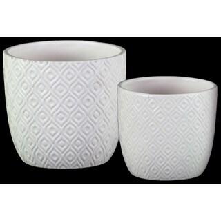 UTC37316 Ceramic Pot Matte Finish White