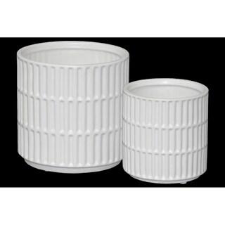UTC45909 Ceramic Pot Matte Finish White