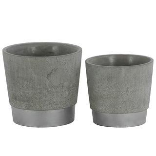 UTC45603 Cement Pot Concrete Finish Graysilver
