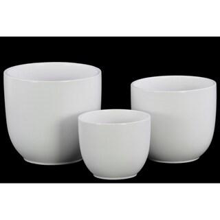 UTC50310 Ceramic Pot Coated Finish White