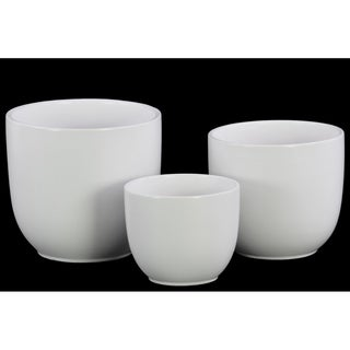 UTC50310 Ceramic Pot Coated Finish White