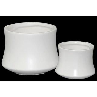 UTC45915 Ceramic Pot Matte Finish White