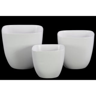 UTC50311 Ceramic Pot Coated Finish White