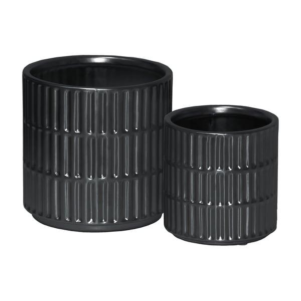 UTC45910 Ceramic Pot Matte Finish Black